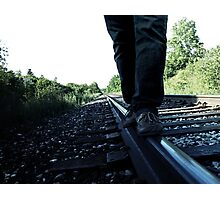 Railroad Walk. Photographic Print