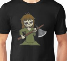 Creepy Girl with Axe Unisex T-Shirt