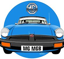 MG MGB rubber bumper blue by car2oonz