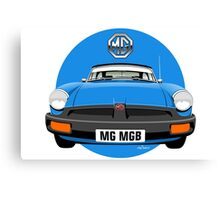 MG MGB rubber bumper blue Canvas Print