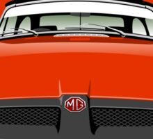 MG MGB rubber bumper blaze red Sticker