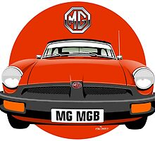 MG MGB rubber bumper blaze red by car2oonz