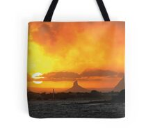 Sunset over Glasshouse Tote Bag
