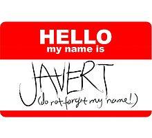HELLO my name is Javert by swelina