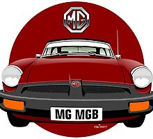 MG MGB rubber bumper damson red by car2oonz