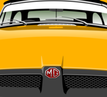 MG MGB rubber bumper yellow Sticker
