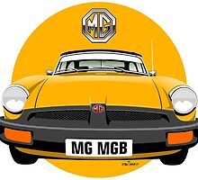 MG MGB rubber bumper yellow by car2oonz
