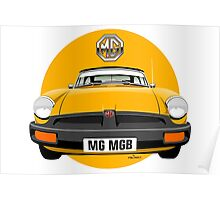MG MGB rubber bumper yellow Poster