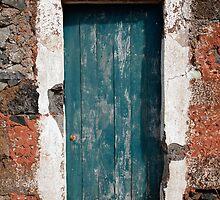 Old painted door by Gaspar Avila