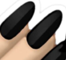 Black Nail Polish Emoji Sticker