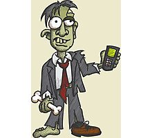 Zombie with Cell Phone Photographic Print