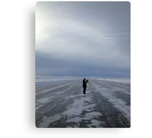 In the midst of a frozen desert... Canvas Print