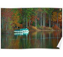swiftcreek reservoir at fall Poster