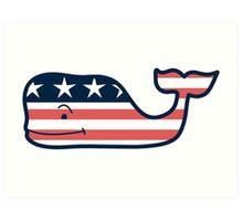 Vineyard Vines American Whale Art Print