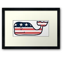 Vineyard Vines American Whale Framed Print
