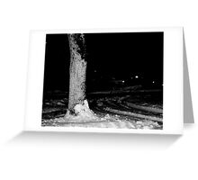 ghost in the trees Greeting Card