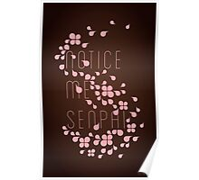Notice Me Senpai (chocolate) Poster