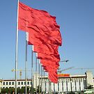 Red Flags - Tiananmen Square, Beijing by Jessica Bawden