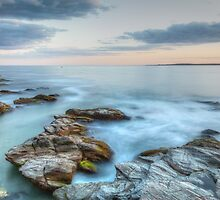 Rocky Sunset Seascape by Joshua McDonough Photography