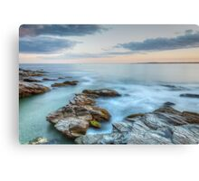 Rocky Sunset Seascape Canvas Print