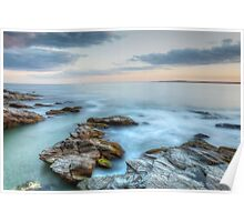 Rocky Sunset Seascape Poster
