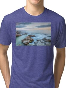 Rocky Sunset Seascape Tri-blend T-Shirt