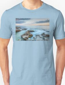 Rocky Sunset Seascape Unisex T-Shirt