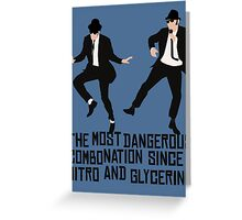 Blues Brothers Dangerous Combo  Greeting Card