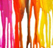 Dripping Crayons Sticker