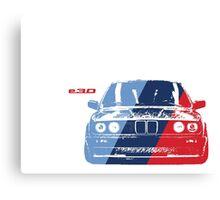 BMW 3 Series (E30) Grungy M stripe overlay Canvas Print