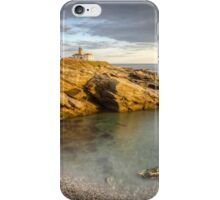 Beavertail Lighthouse at Sunset iPhone Case/Skin