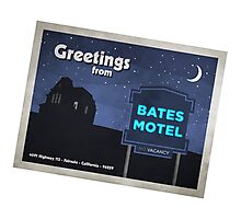 Greetings from Bates Motel! Photographic Print