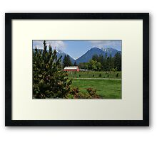 Red Barn in the Pasture Framed Print