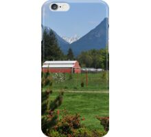 Red Barn in the Pasture iPhone Case/Skin
