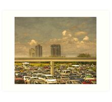 Theme Park Car Park Art Print