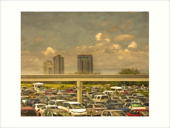 Theme Park Car Park by Paul Vanzella