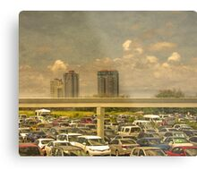 Theme Park Car Park Metal Print