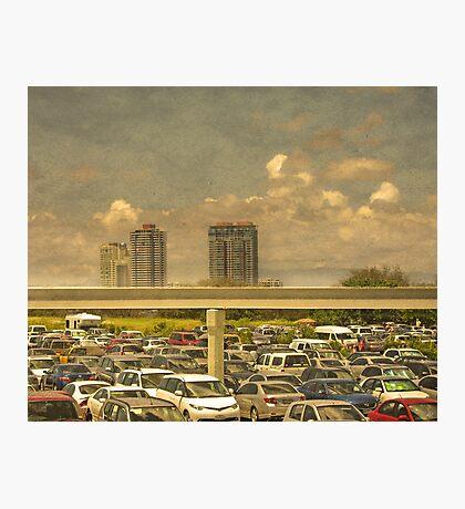 Theme Park Car Park Photographic Print