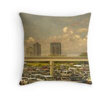 Theme Park Car Park Throw Pillow