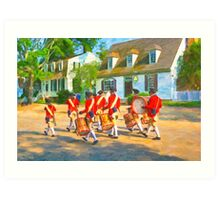 Colonial American Marching Band - Williamsburg VA Art Print