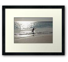 Silver Dancer Framed Print