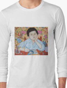 Double Take boy sketching Long Sleeve T-Shirt