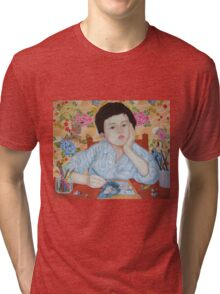 Double Take boy sketching Tri-blend T-Shirt
