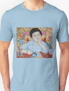 Double Take boy sketching Unisex T-Shirt