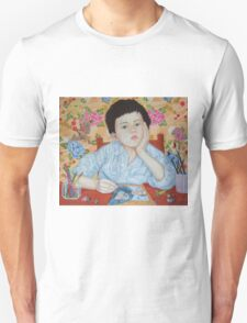 Double Take boy sketching Unisex T-Shirt