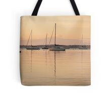Sunrise Sailboats at Anchor Tote Bag