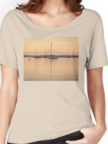 Sunrise Sailboats at Anchor Women's Relaxed Fit T-Shirt