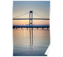 Newport Bridge Sunrise Poster