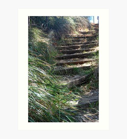Mystical Stairway Art Print