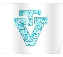Alpha Delta Pi Virginia Tech Logo Poster